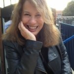 The poet Sue Hubbard, smiling.
